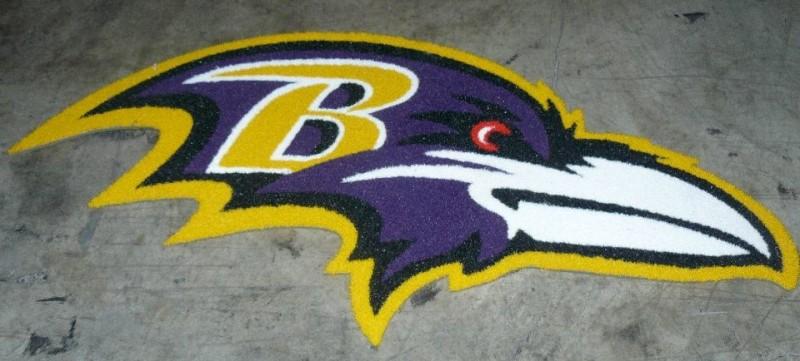 Baltimore Ravens 1/2 Inch Pile Turf Rug