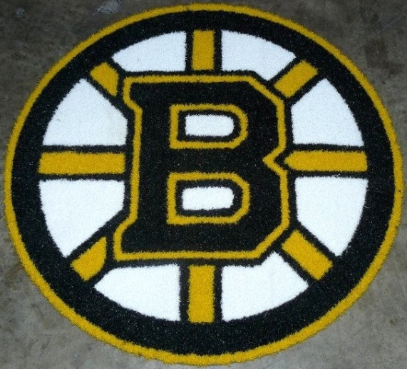 Boston Bruins 1/2 Inch Pile Turf Rug