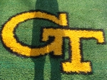 Georgia Tech Tailgate Rug 12 x 12 or 10 x 10 with 2 inch pile height
