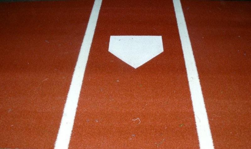 Baseball Home Plate Batter Box 1/2 Pile Turf Rug
