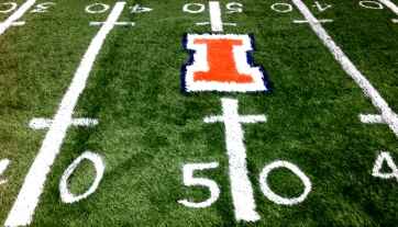 University of Illinois Hand-painted lines & numbers 2 inch Turf
