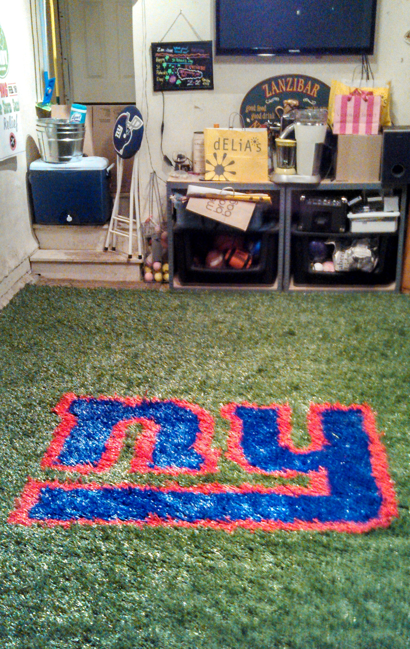 Man Cave Artificial Turf : Man cave tailgating turf rugstailgating rugs