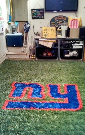 New York Giants Garage 2 inch Turf