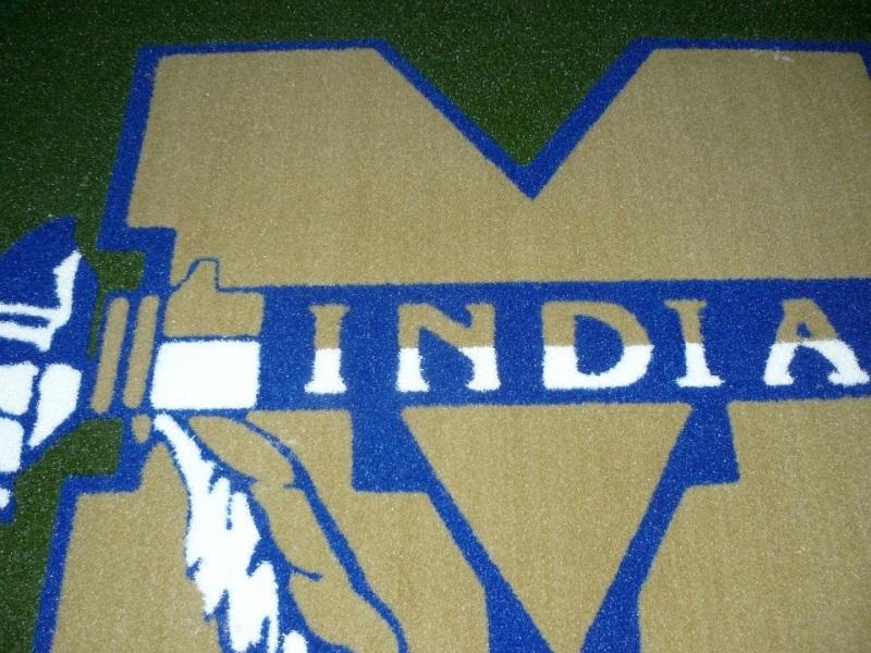 M Indians Baseball Circle 1/2 Pile Turf Rug